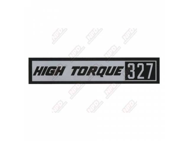 Decal Valve Cover Hi-Torque 327 Gm 3813916