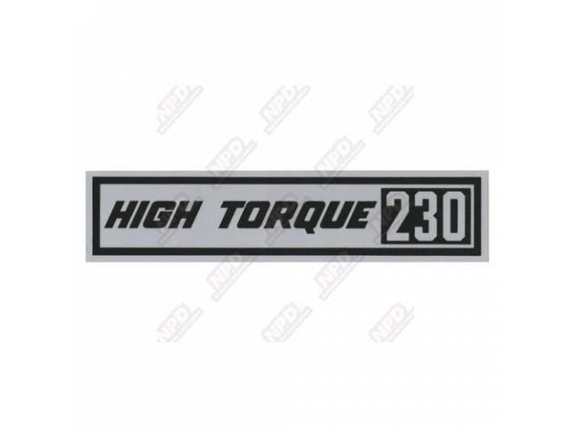 Decal Valve Cover Hi-Torque 230 Gm 3829161