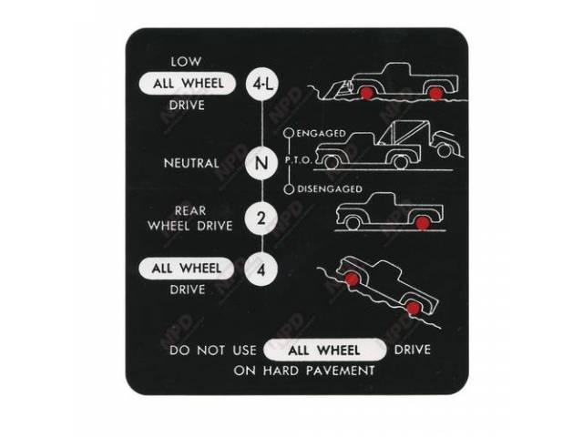 Decal 4-Wheel Shift Pattern