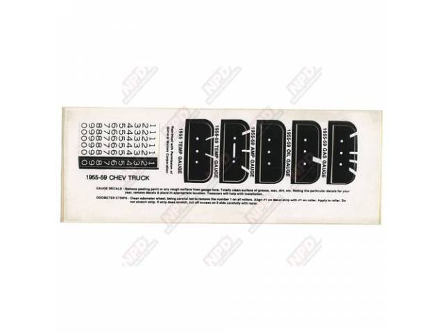 Decal Speedometer Decal Set 2st Series