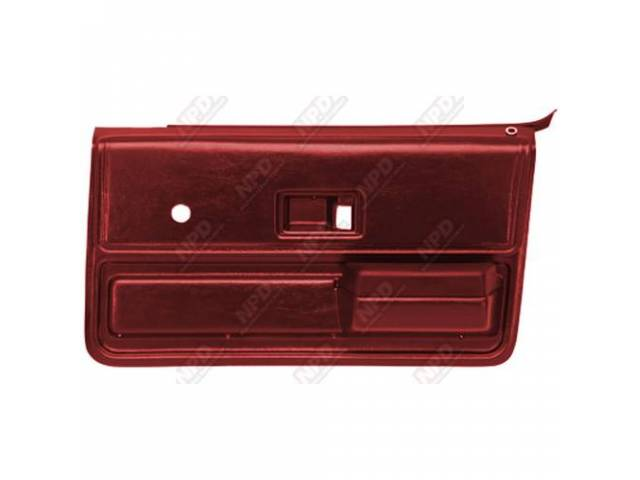 PANEL SET, REPLACEMENT STYLE, PORTOLA RED, ABS PLASTIC,
