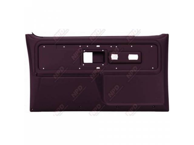 Panel Set Replacement Style Burgundy Front Doors W/O