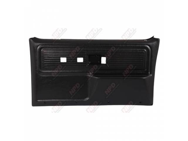 Panel Set Replacement Style Black Front Doors W/