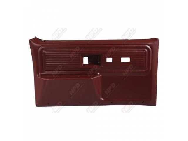 Panel Set Replacement Style Burgundy Front Doors W/