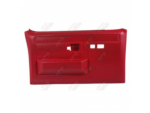 Panel Set Replacement Style Portola Red Front Doors