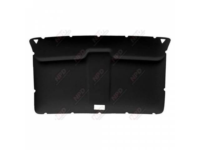 Headliner Original Style Rear Covered In Black Cloth