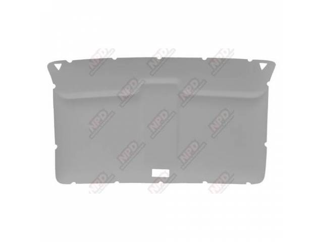 Headliner Original Style Rear Covered In Light Grey
