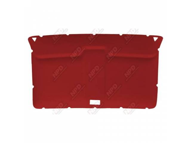 Headliner Original Style Rear Covered In Dark Red