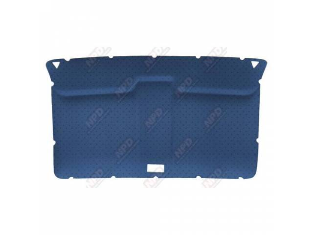 Headliner Original Style Rear Covered In Blue Perforated