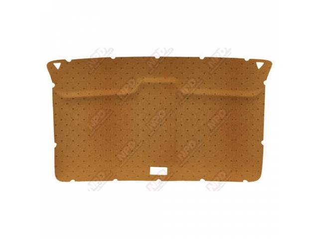 Headliner Original Style Rear Covered In Ginger Perforated