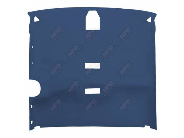 Headliner Cloth W/ Foam Backing Medium Blue W/