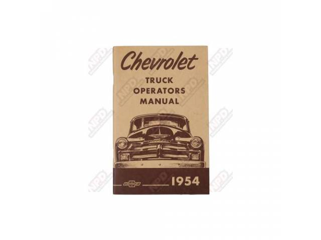 Book Chevy Truck Owners Manual Repro