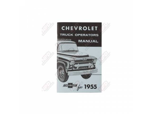 Book Chevy Truck Owners Manual Repro 2nd Series