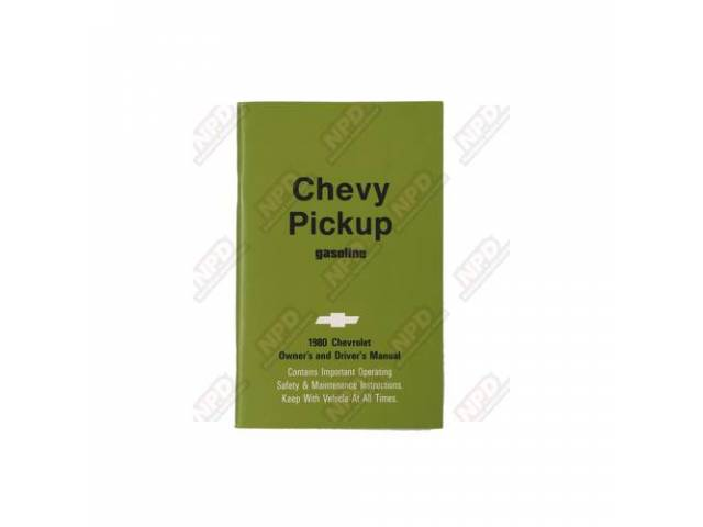 BOOK, CHEVY TRUCK OWNERS MANUAL, LIGHT DUTY, REPRO