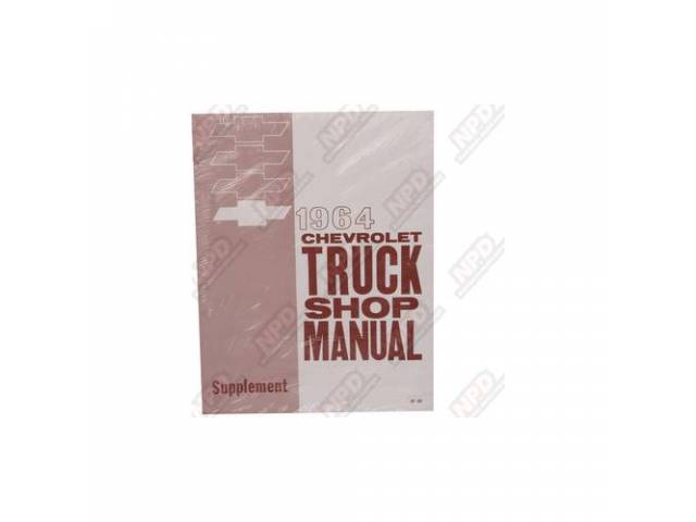 Book Chevy Truck Service Supplement Manual Repro Needs