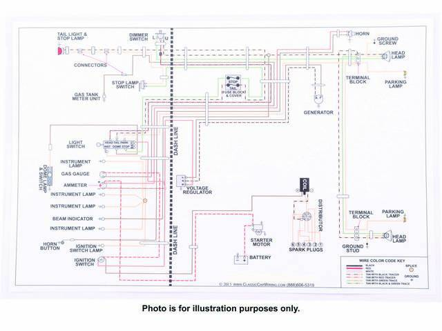 Manual Wiring Diagram Full Color Laminated 17 Inch