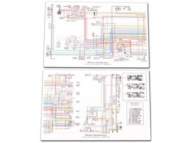 Manual Wiring Diagram Full Color Laminated 17 Inch -  K-lwd-79a