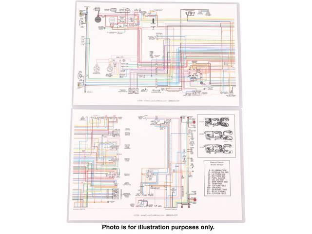 MANUAL, Wiring Diagram, Full color, Laminated, 17 Inch