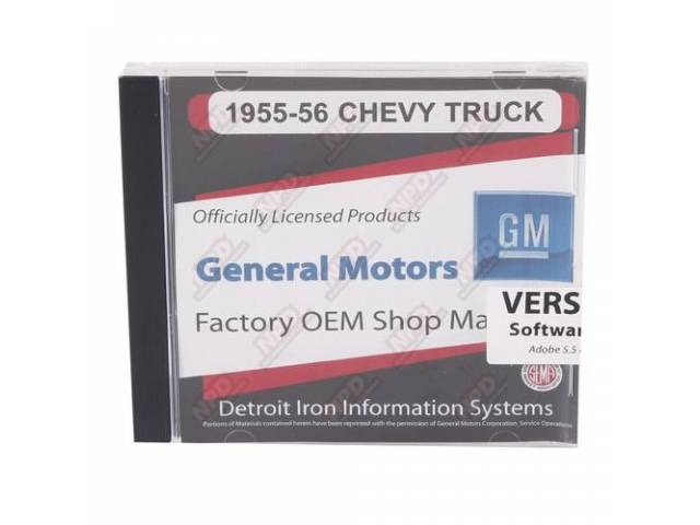 SHOP MANUAL ON CD, 1955-56 Chevrolet Truck, Incl 1955 Chevy Truck shop manual (w/ 1956 supplement), 1947-55 assembly manual, 1938-68, 1954-65 and 1949-58 Chevrolet parts manuals