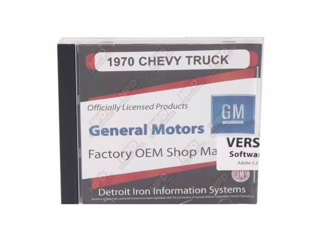 Shop Manual On Cd 1970 Chevrolet Truck Incl