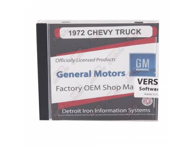 Shop Manual On Cd 1972 Chevrolet Truck Incl