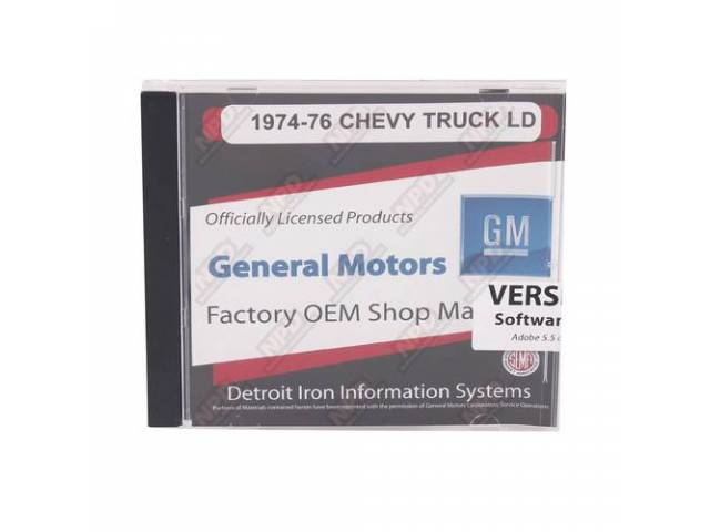 Shop Manual On Cd 1974-1976 Chevrolet Truck Incl