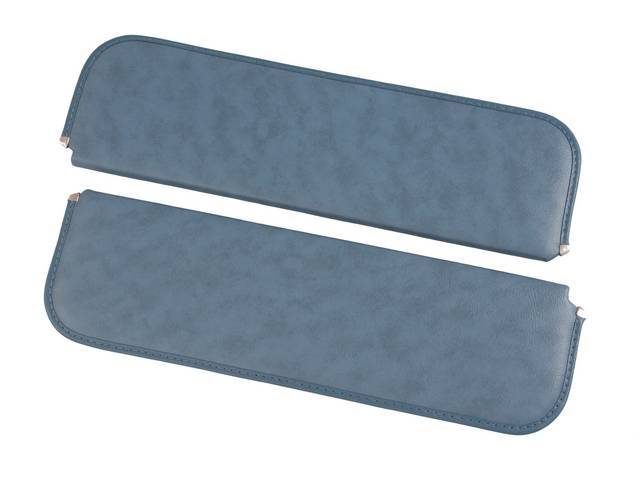 SUNVISOR SET, Medium Blue, madrid grain vinyl, repro