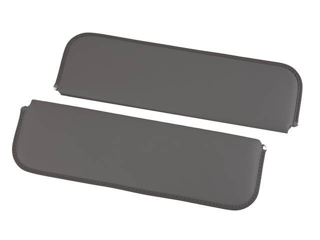 SUNVISOR SET, Charcoal, madrid grain vinyl, repro