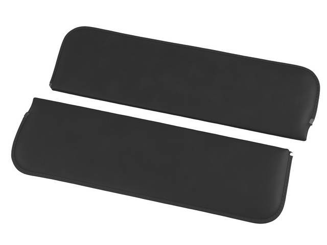 SUNVISOR SET, Black, madrid grain vinyl, repro