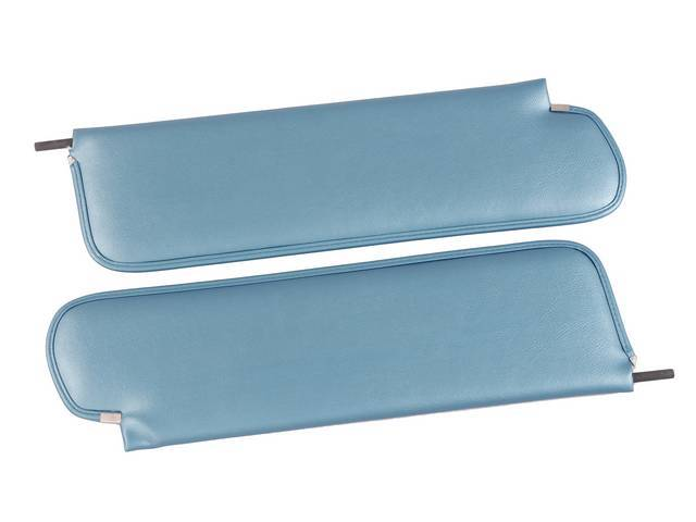 SUNVISOR SET, Bright Blue, madrid grain vinyl, repro