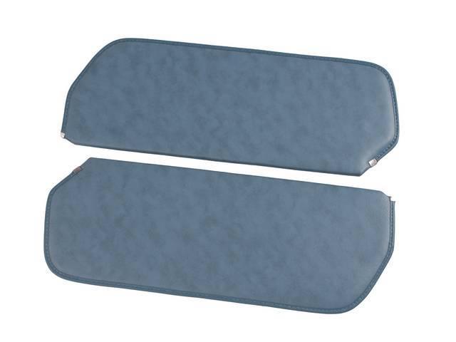 SUNVISOR SET, Medium Blue, madrid grain vinyl, repro