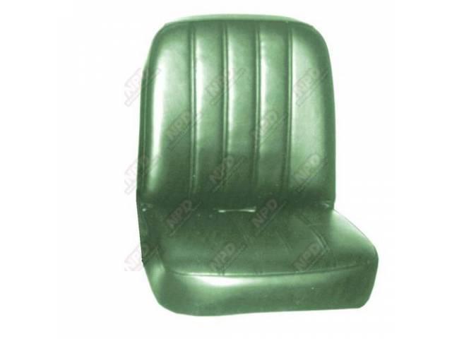Upholstery Set Buckets Metallic Green Pui Madrid Grain