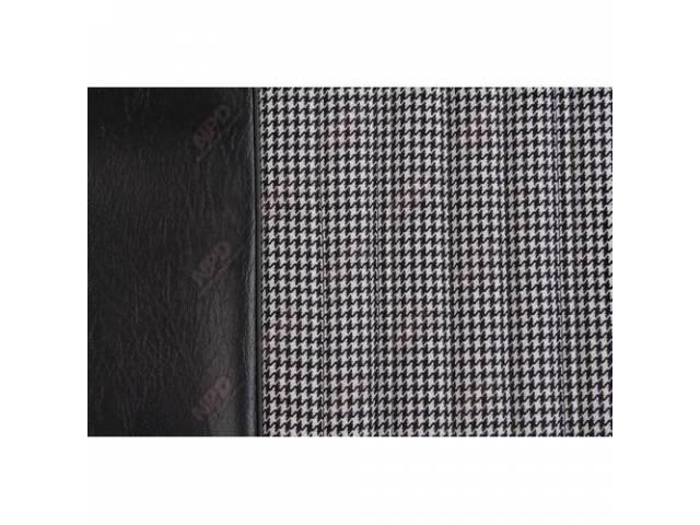Upholstery Set Buckets Dlx Houndstooth Black Walrus Grain