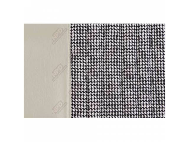 Upholstery Set Buckets Dlx Houndstooth White Walrus Grain