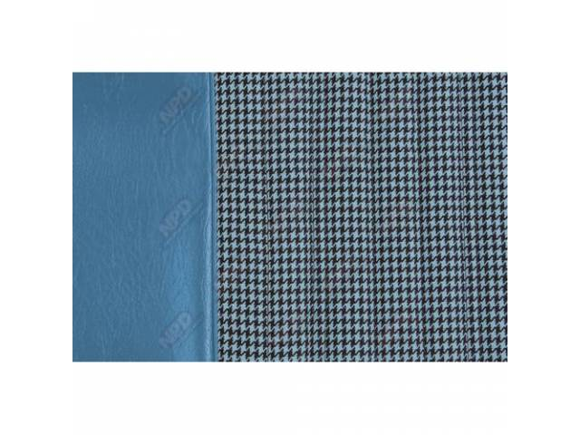 Upholstery Set Buckets Dlx Houndstooth Bright Blue Walrus