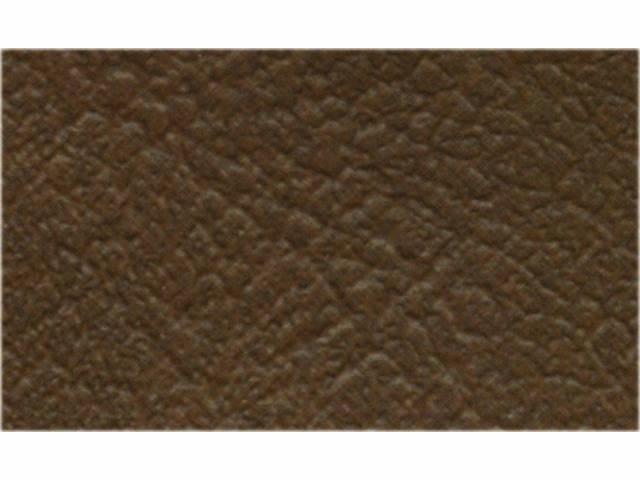 Upholstery Bench Madrid Grain Vinyl Smooth Dark Saddle