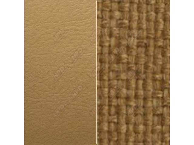 UPHOLSTERY, BENCH, MADRID GRAIN VINYL AND WOVEN FABRIC,