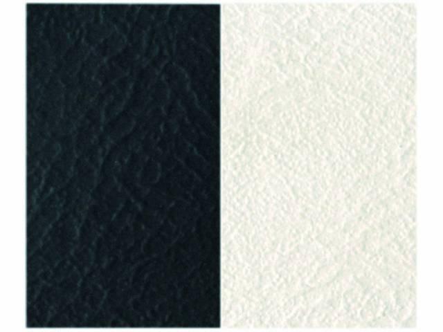 Upholstery Bench Madrid Grain Vinyl Two Tone Black