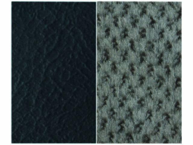 Upholstery Bench Black Madrid Grain Vinyl W/ Silver