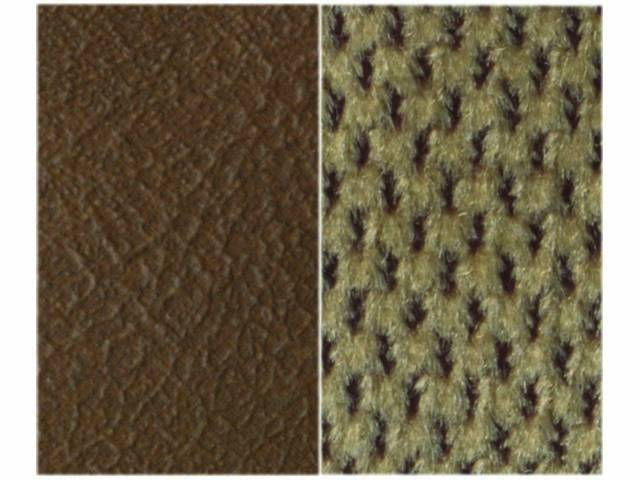 Upholstery Bench Dark Saddle Madrid Grain Vinyl W/