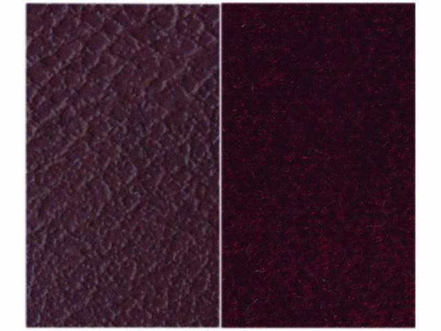 Upholstery Bench Maroon Madrid Grain Vinyl W/ Burgundy