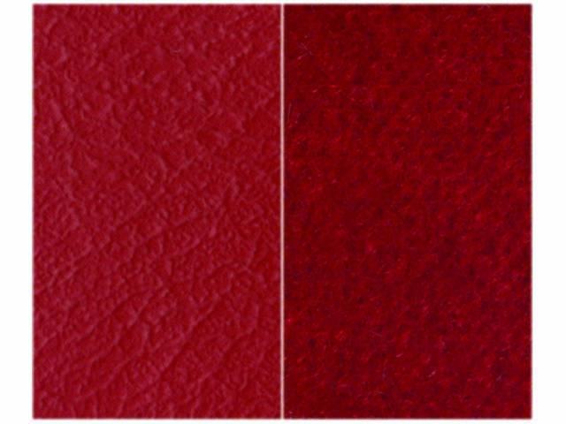 UPHOLSTERY, BENCH, RED MADRID GRAIN VINYL W/ TORCH
