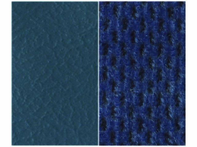 UPHOLSTERY, BENCH, MED BLUE MADRID GRAIN VINYL W/