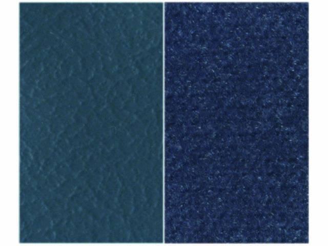 Upholstery Bench Med Blue Madrid Grain Vinyl W/