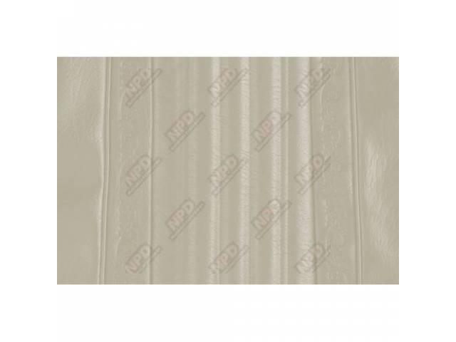 Upholstery Bench Off White Walrus Grain W/ Elk