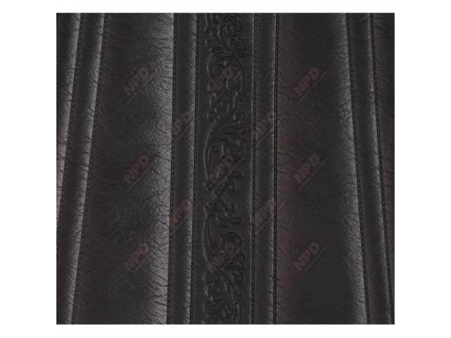 Upholstery Bench Black Walrus Grain W/ Elk Grain