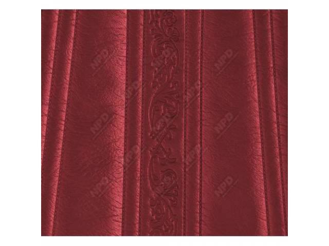 Upholstery Bench Red Walrus Grain W/ Elk Grain