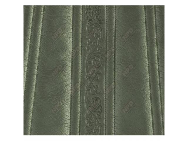 Upholstery Bench Metallic Green Walrus Grain W/ Elk