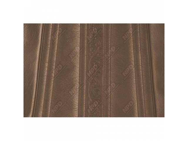 Upholstery Bench Dark Saddle Walrus Grain W/ Elk