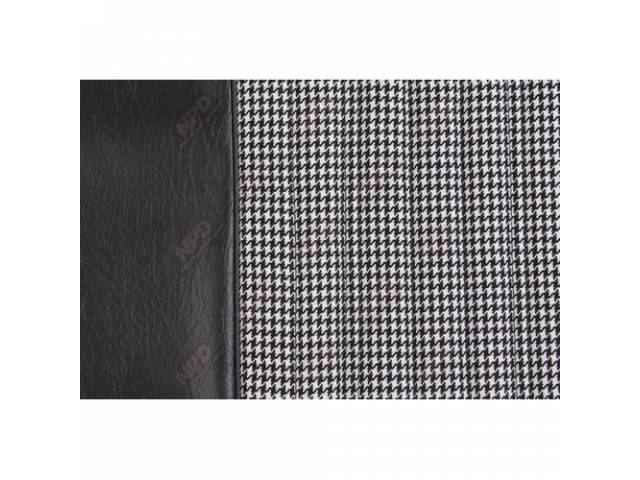 Upholstery Set Bench Dlx Houndstooth Black Walrus Grain